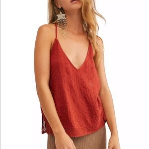 FREE PEOPLE RUSTY BRIGHT LIGHT EMBELLISHED CAMI